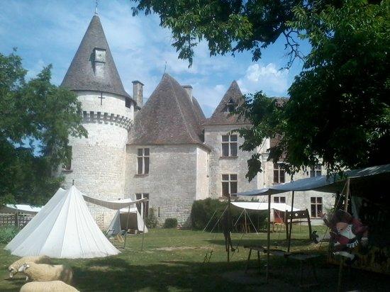 Chateau de Bridoire: parc intèrieur château de Bridoire