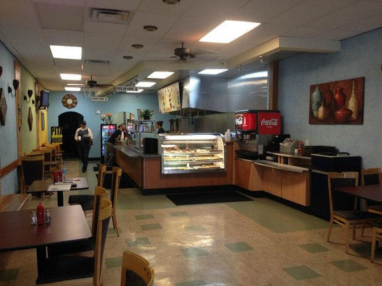 Pita House: Looking at the counter
