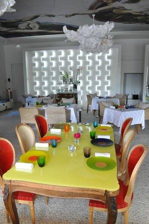 Domaine des Andeols : la salle du restaurant gastronomique