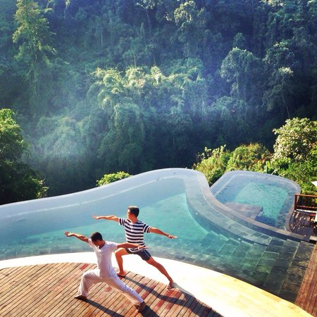Hanging Gardens of Bali : Morning yoga session