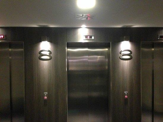 Pullman Brussels Centre Midi Hotel: 8th floor elevators