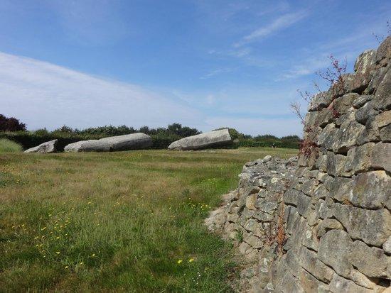 Site des Mégalithes de Locmariaque : Table des Marchands et Grand Menhir brisé d'Er Grah