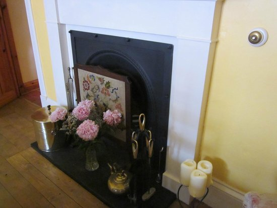 Sydney House Bed and Breakfast: Dining room fireplace