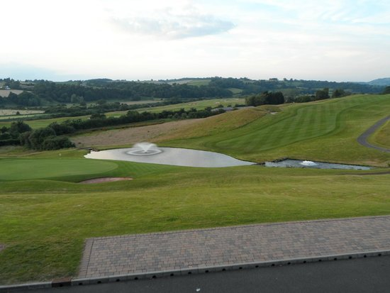 Celtic Manor Resort: View from Rafters restaurant