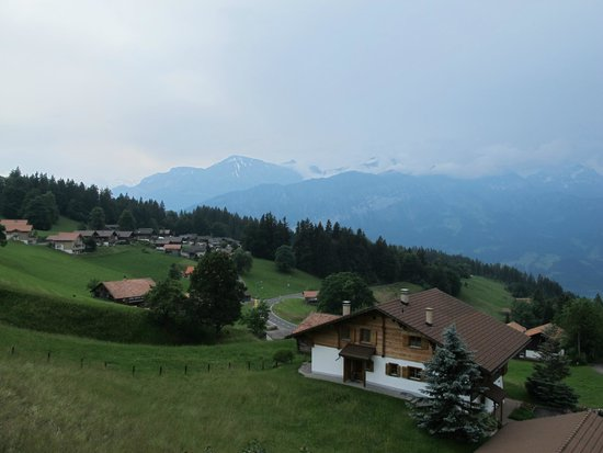 Alphotel Eiger: the view from the room's balcony