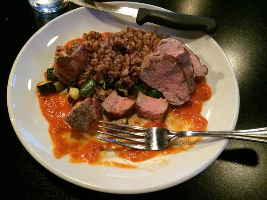 Elixir Restaurant: Pork tenderloin with quinoa and zucchini