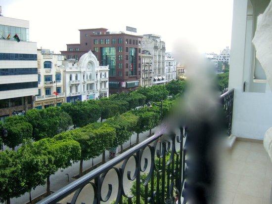 Carlton Hotel Tunis : Panorama depuis le balcon.