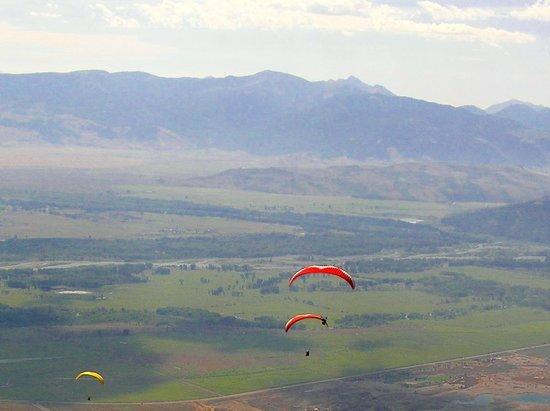 Jackson Hole Aerial Tram : Snake river e valle