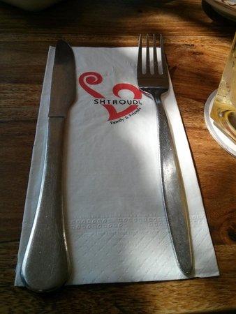 שטרודל: at the restaurant