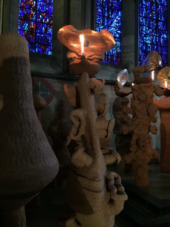 """Salisbury Cathedral: """"The Apostles Speaking in Tongues Lit by Their Own Lamps"""" - Nicolas Pope"""