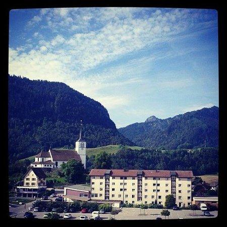 Hotel Cailler: La vue depuis notre la chambre 305
