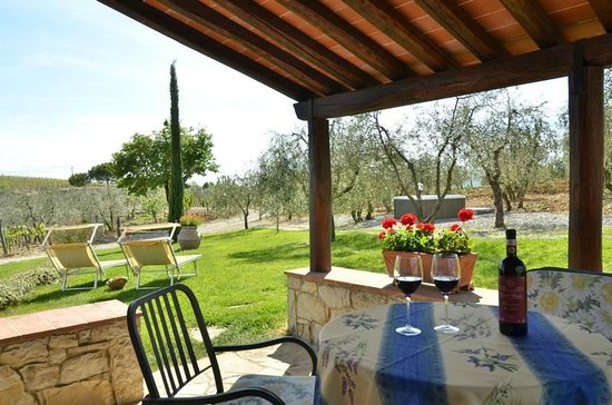 Azienda Agraria Casanuova di Ama: Scenic view from the veranda @ Girasole di Ama