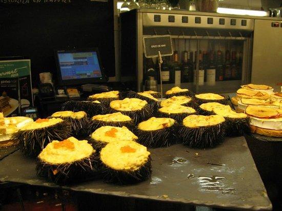 Bar zeruko: Sea urchin pintxos