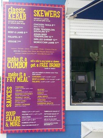 Al La Kebab: menu