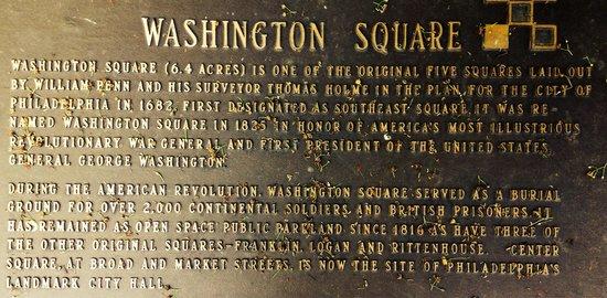 Washington Square Park: Washington Square tribute