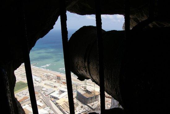 The Great Siege Tunnels : Вид с тоннеля