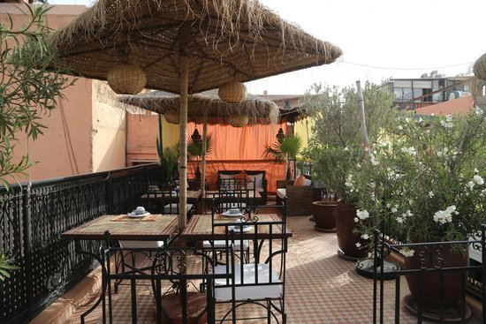 Riad Andalla : Terrace on rooftop