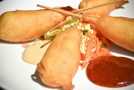 Amen Street Fish & Raw Bar : Shrimp Corndogs