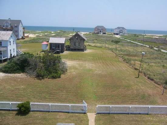 Chicamacomico Life-Saving Station Historic Site & Museum: View from the tower to the Atlantic