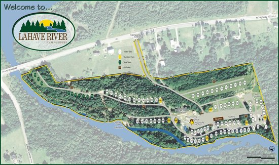 Lahave River Campground : Site Map