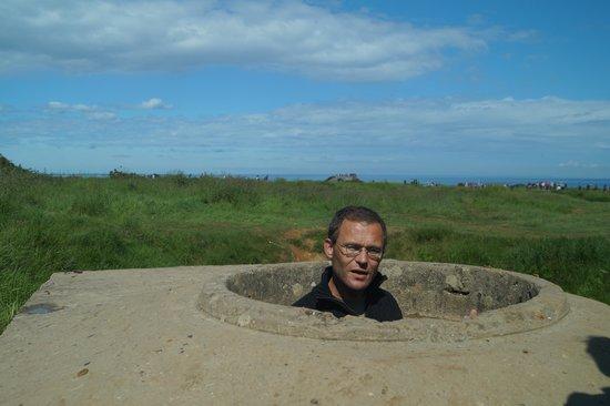 Battle of Normandy Tours: Ed describing Point du Hoc's machine gun positions