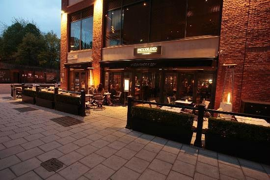 Piccolino: Outside seating - has plastic cover over when weathers not so warm