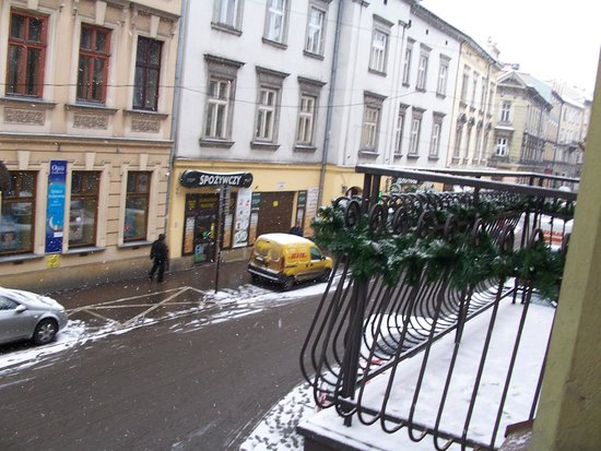 Hotel Kazimierz: view out of the window