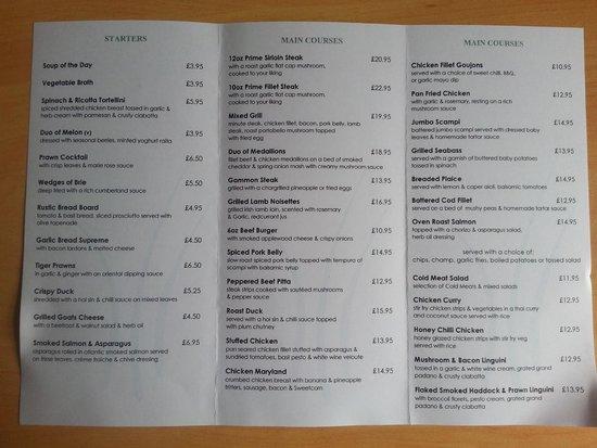Rosspark Hotel: High tea menu