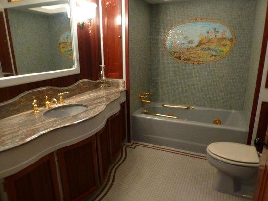 The Castle: Master Bathroom modernized by Stewart Bosley