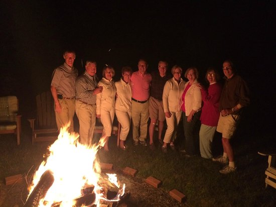 Annville Inn: Our Group at the Bonfire