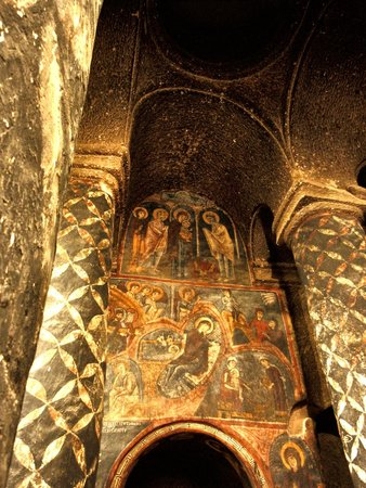 Eski Gumusler Monastery: Remarkable Frescoes that escaped the typical desecrations.