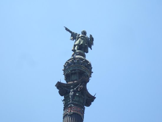 Las Ramblas: Top of the Christopher Columbus monument.