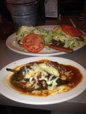 Soccer Taco: Chile relleno and sopa with cow's cheek! Fantastic!