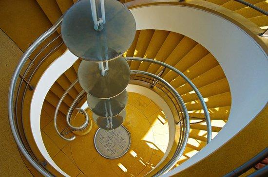 De La Warr Pavilion art deco stairwell