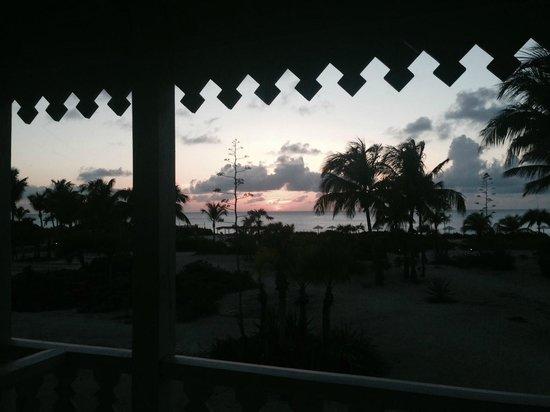 Club Med Columbus Isle : couché de soleil vu du balcon