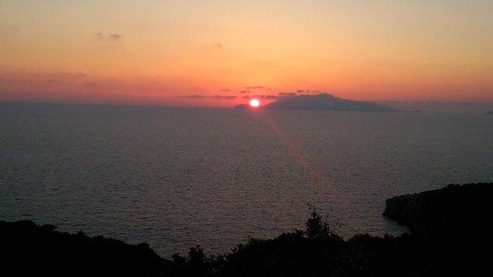 B&B Cala del Rio Isola di Capri: tramonto