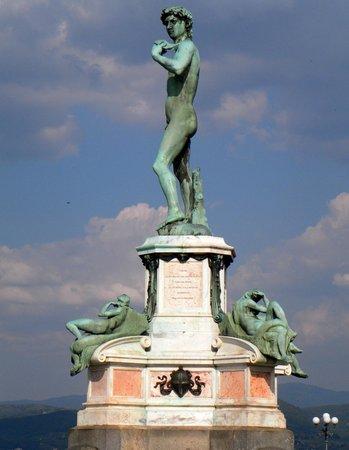 Piazzale Michelangelo: ihm dämmerts schon.....;-)