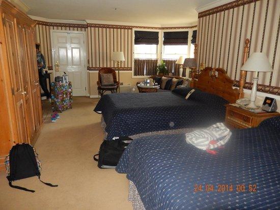 Apple Farm Inn : des lits king size et de l'espace avec une super cheminée qui fonctionne