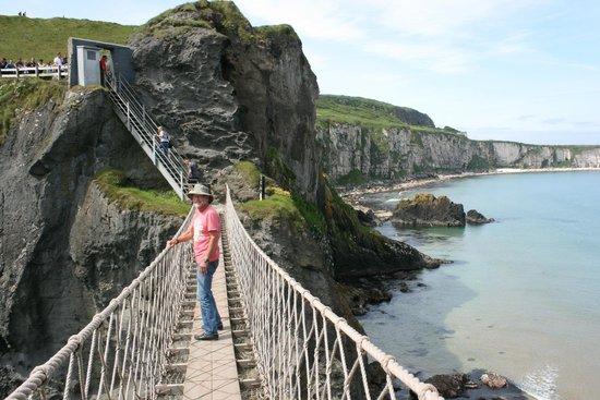 Carrick-A-Rede Rope Bridge: Me on the rope bridge