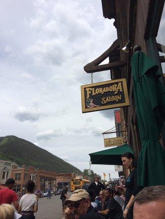 Floradora Saloon: Sitting outside people watching.