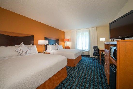Fairfield Inn & Suites Indianapolis Northwest : Double Queen Guest Room