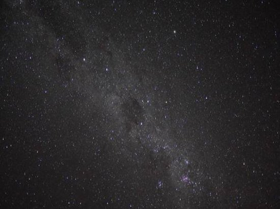 Tau Game Lodge: Sight of the Milky Way from my balcony !