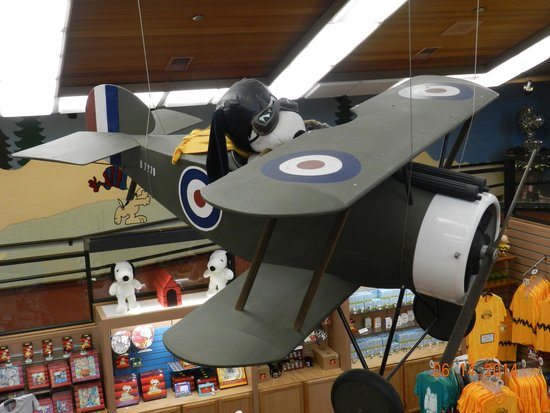 Charles M. Schulz Museum: Curse you Red Baron