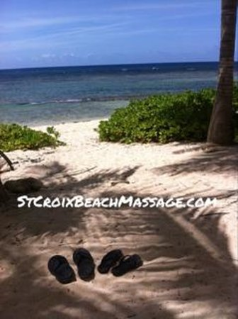 Beach Massage and Bodywork Delivered : Take off your flip flops and hop on a massage table!