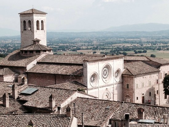 Hotel Giotto Assisi: View from my room(301). Great to hear bells ring. Wi - fi worked fine.