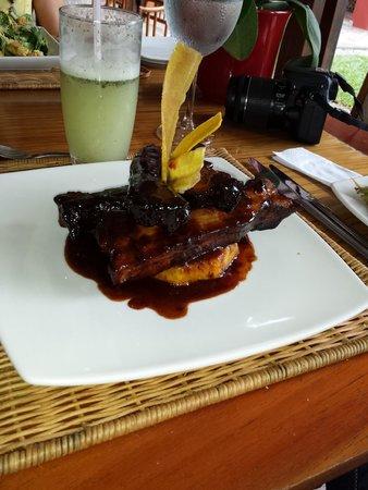Hotel Boutique Sazagua: Deliciosas costillas de cerdo a la nona