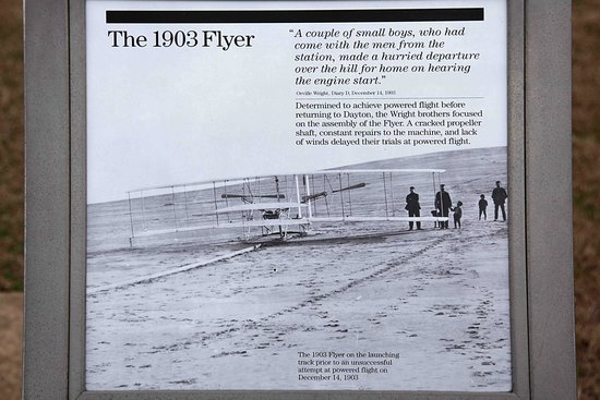 Wright Brothers National Memorial: Then they powered into the air