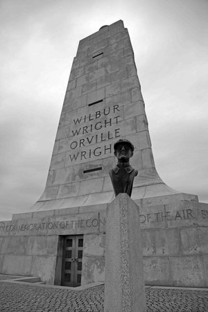 Wright Brothers National Memorial: 80 tons of granite
