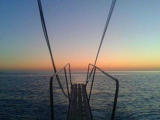 Plage d'Oludeniz (Lagon bleu) : Por do sol no barco