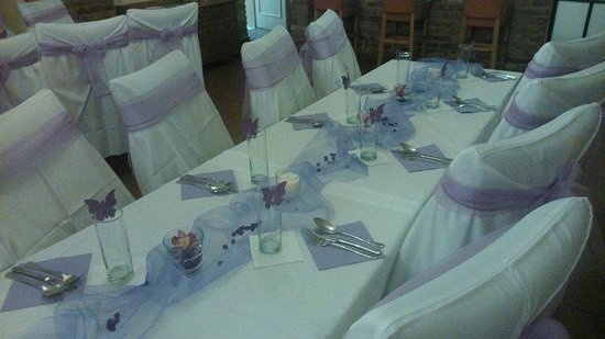 Hotel Stary Pivovar: table decorations
